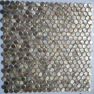 73050 Alu 6 eckig Gold 324x324 - 73050 Alu 6-eckig Gold Massiv Aluminium Mosaik