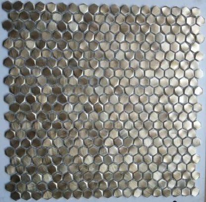 73050 Alu 6 eckig Gold 416x409 - 73050 Alu 6-eckig Gold Massiv Aluminium Mosaik