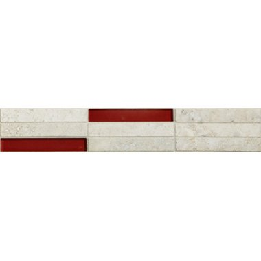 70102 staebchen travertino chiaro rot bord - 70102 Travertino & Rot Glas